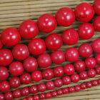 """Red Howlite Turquoise Gemstone Round Beads 15.5"""" 4 6 8 10 12 14mm Pick Size"""