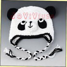 Kid's Toddler Baby Girls Boys Cute Panda Pig Owl Monkey Knit Woolly Cap Ear Hat