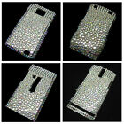 Clear Bling Crystal Diamond Rhinestone Snap-On Back Hard Case Cover Skin New