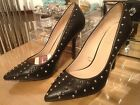 ZARA BNWT BLACK FASHION STUDDED COURT SHOE HEEL ALL SIZES