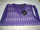 IKE BEHAR PURPLE/WHITE VEST BOYS LARGE/MEDIUM NWT