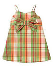 Gymboree Coral Reef plaid bow accented tank top shirt NWT