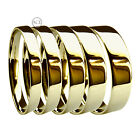 3, 4, 5, 6 & 8mm 9ct HM Heavy Yellow Gold Flat Court Profile Wedding Bands Rings