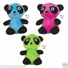 "Panda Dog Toy - Green or Blue  - Squeaker 4 3/4"" by Zanies"