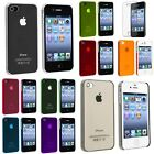 9 Colors Ultra-Thin 0.5mm Transparent Matte Shell Case Cover For iPhone 4 4s