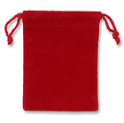 10 - Velvet Party, Gift or Jewelry Bags Pouches - RED or BLUE -3x4 inches
