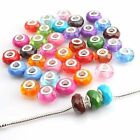 Wholesale Colorful Round Faceted Acrylic Spacer Bead Fit European Bracelet Lots