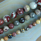 "Natural Faceted Round Japanese Artistic Gemstone Beads 15"" 6,8,10mm Pick Size"