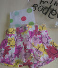 Baby Girls Mini Boden Pleated Floral Summer Shorts Age 12 - 18 Months NEW