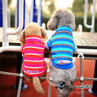 Spring Summer Cotton Dog Pet Coat clothes Polo Shirt stripes/embroidery XS/S/M/L