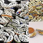 Colorful Crystal Rhinestone Semicircle 3 Holes Loose Spacer Beads Finding Crafts
