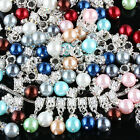 Colorful Acrylic Artificial Man-made Pearl Charms European Dangle Bracelet Beads