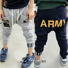 Spring Baby Toddlers Boys Girls Child Kids Army Design Harem Pants Trousers 2-8Y