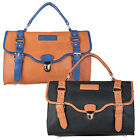 Ladies New Synthetic Leather Womens Medium Smart Handbag Shoulder Satchel Bag