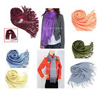 Elegant Stylish Classic Soft  Long Large Pashmina Wool Tassels Scarf Shawl Wrap