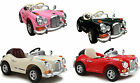 KIDS RIDE ON RECHARGEABLE CLASSIC VINTAGE STYLE  OUT DOOR CAR +R/C+ MP3 INPUT