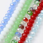 71pcs 5*8mm Faceted Rondelle Crystal Glass Loose Beads Fit Jewelry Making DIY
