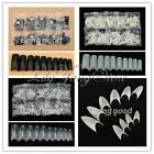500 Pcs Fake False French Nail Art Tips White Clear Stiletto Gel Pointy Acrylic