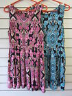 Ladies Brave Soul Brocade Print Sleeveless Skater Dress LDRJ-225HARLEY