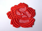6 GUIPURE LACE FLOWERS, AVAILABLE IN BLACK OR RED, 81MM WIDE