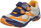Jumping Jacks XYZ Boys Navy Blue Orange Velcro Athletic Sneaker Shoe