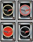 "Chevy Corvette - C6 17"" x 22"" Framed Litho Color Logo Wall Mirror - Pick Colors"