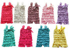 Baby Ruffle Lace Petti Rompers W/Straps Newborn/Infant/Toddler Photo Prop