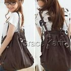 UK Girls Vintage Travel Canvas Backpack Rucksack Satchel School Hiking Book Bag