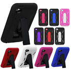 For iPod Touch 4 4th gen IMPACT Hard Rubber Case Phone Cover Kickstand accessory