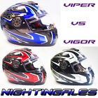 VIPER RS-V50 VIGOR MOTORCYCLE MOTORBIKE HELMET WITH DROP DOWN INNER SUN VISOR