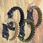 WEB TEX TACTICAL WOVEN WRIST BAND BRACELET & WHSITLE PARACORD ARMY BUSHCRAFT