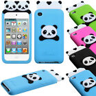 For iPod Touch 4 4th Gen Rubber SILICONE Skin Gel Case Cover Peeking Panda