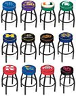 Choose NCAA K-O Team L8B1 Black Single-Ring Swivel Bar Stool w / 4 Cushion Seat