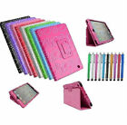 SPARKLY DIAMOND GEM  BLING FLIP LEATHER CASE COVER FOR APPLE iPAD/SAMSUNG TABLET