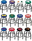 Choose NCAA K-O Team L8B2C Black Single-Ring Swivel Bar Stool w / Chrome Accent