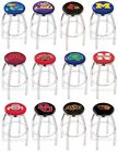 Choose NCAA K-O Team L8C2C Chrome Single-Ring Swivel Bar Stool w / Accent Ring