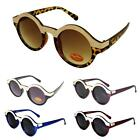 Retro Round Metal Top Sunglasses UV400 Steampunk Black/Brown/Blue/Red/Purple Vtg