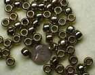 VINTAGE BRASS COPPER GOLD PLATED PLASTIC 7mm & 9mm Pony Crow Barrel Bead / Beads
