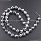 Hematite Gemstone Faceted Round Ball Beads 16'' Silver 2mm 3mm 4mm 6mm 8mm 10mm