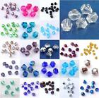 300/600x Bulk Colorful Faceted Bicone Glass Loose Beads Jewellery Curtain Making