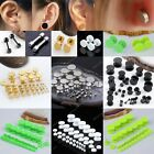 2x Steel Barbell Women Men Earring Stud Ear Plug Fake Cheater Stretcher Expander