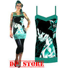 TOO FAST GOTHIC PUNK GOTH CAMILLE TANK TOP TUNIC SKULL ZOMBIE SHIRT ROCKABILLY