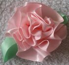 """LOOK! 1"""" & 2"""" High Quality Satin Ribbon Flower Cabbage Rose Flowers COLOR CHOICE"""