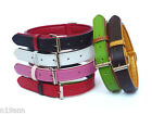 LEATHER COLLAR SIZE SMALL PICK BLACK BROWN LIME RED WHITE FAUX LEATHER LINING
