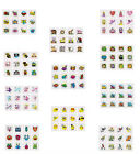 48 TEMPORARY TATTOOS,SMILEY,FAIRY,PIRATE,MONSTER,FARM,JUNGLE,SEA,INSECT,DINO ECT