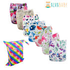U Pick 7 AlvaBaby Cloth Diapers Reusable Washable Pocket Nappies Lot +7 Insert