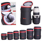 Camera Lens Protector Pouch Case Insert Bag Cover For Canon Sony Nikon DSLR SLR