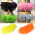 Hot Sexy Womens Girl's Organza Tiered Pettiskirt Petticoat Tutu Mini/Long Skirt
