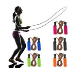 Skipping Speed Leather Jump Rope Fitness Boxing Gym Bearings Twist Free
