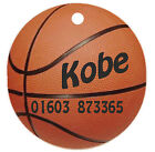 Personalized Custom Pet Dog Cat Tag ID Sports Basketball ball Any name Text
